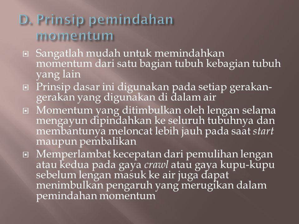 D. Prinsip pemindahan momentum