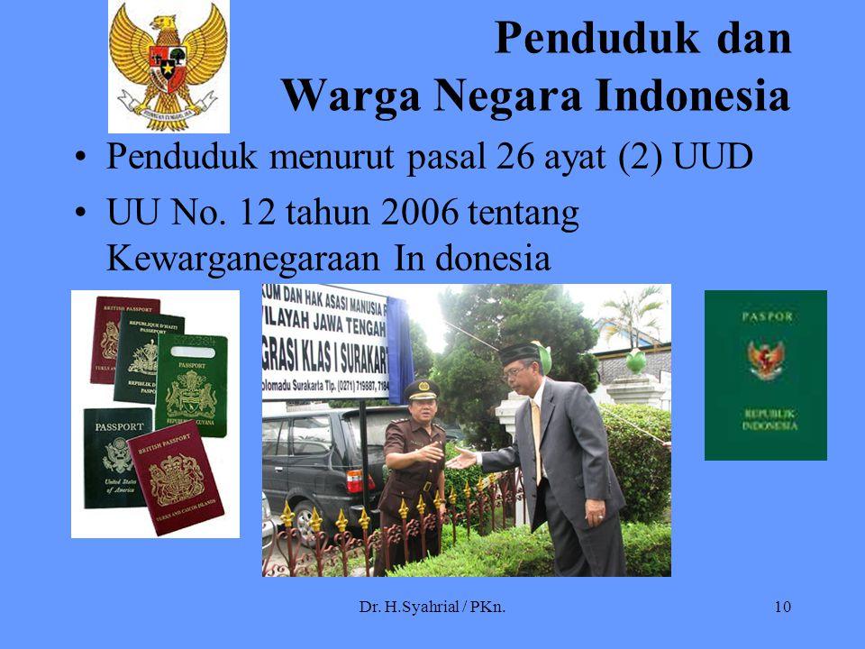 Penduduk dan Warga Negara Indonesia