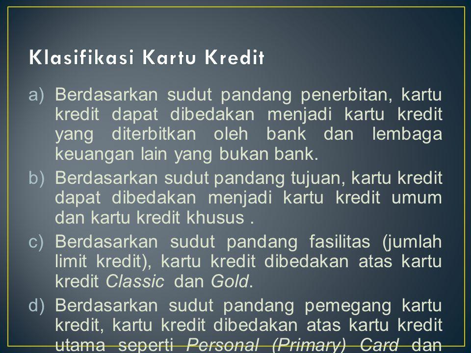 Klasifikasi Kartu Kredit