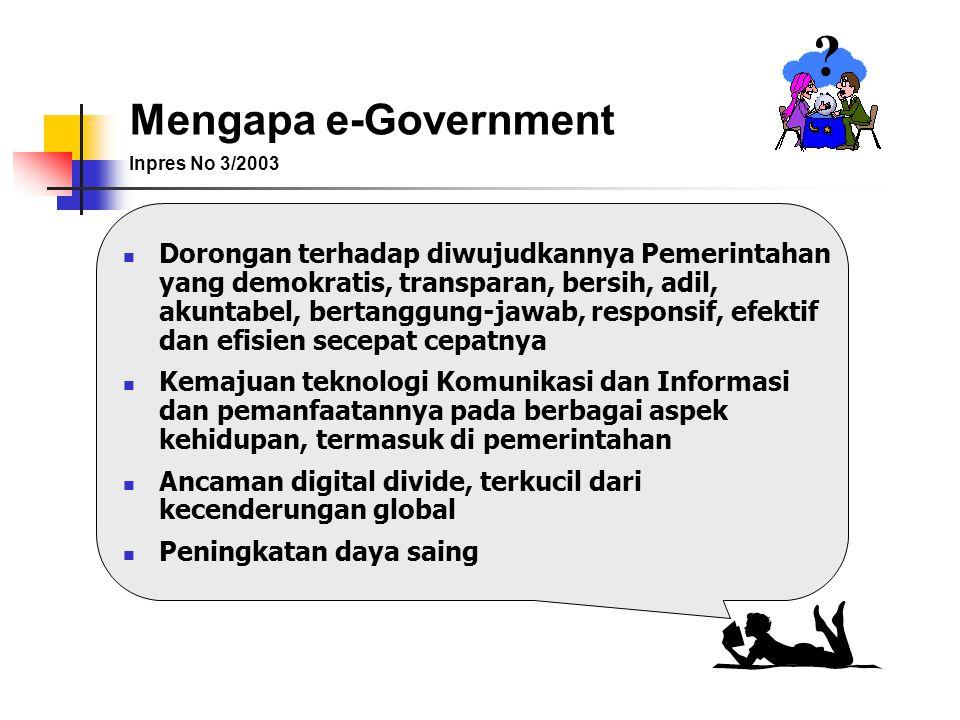 Mengapa e-Government. Inpres No 3/2003.