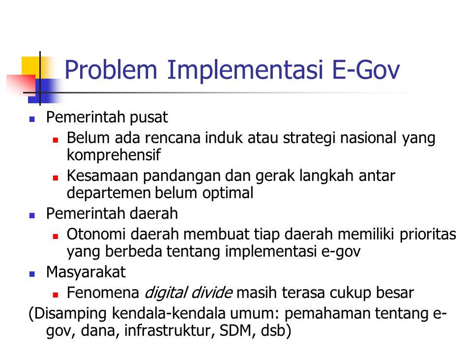 Problem Implementasi E-Gov