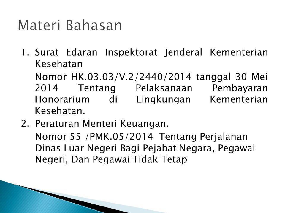 Materi Bahasan Surat Edaran Inspektorat Jenderal Kementerian Kesehatan