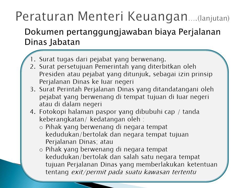 Peraturan Menteri Keuangan….(lanjutan)