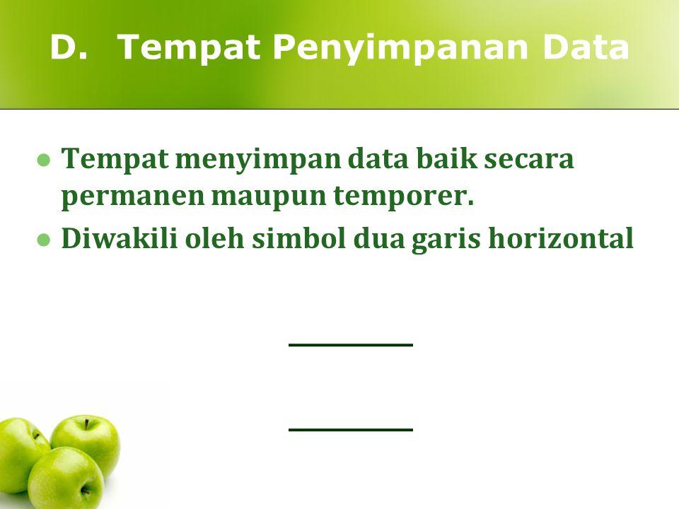 D. Tempat Penyimpanan Data