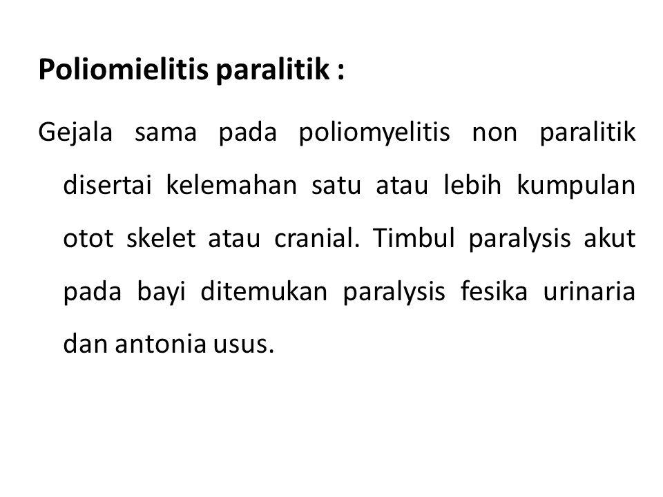 Poliomielitis paralitik :