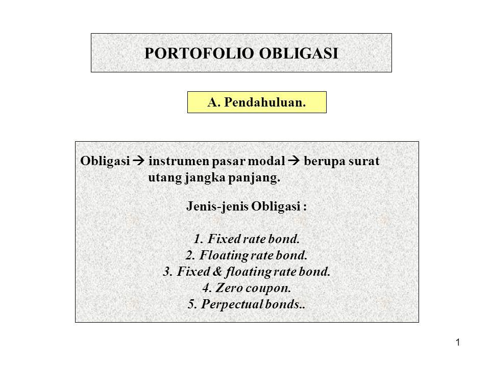 Jenis-jenis Obligasi :