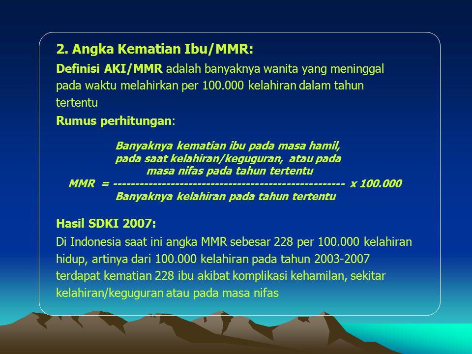 2. Angka Kematian Ibu/MMR: