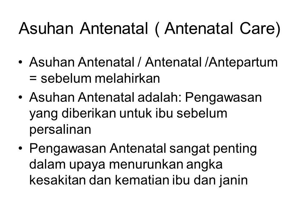 Asuhan Antenatal ( Antenatal Care)