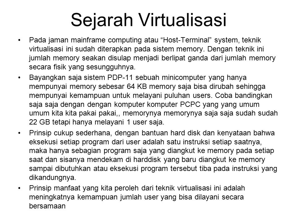 Sejarah Virtualisasi