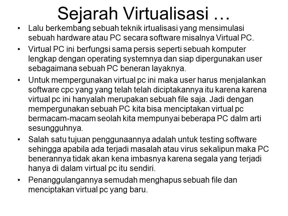 Sejarah Virtualisasi …