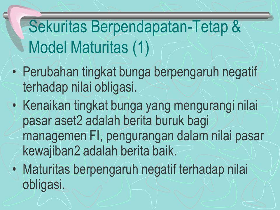 Sekuritas Berpendapatan-Tetap & Model Maturitas (1)