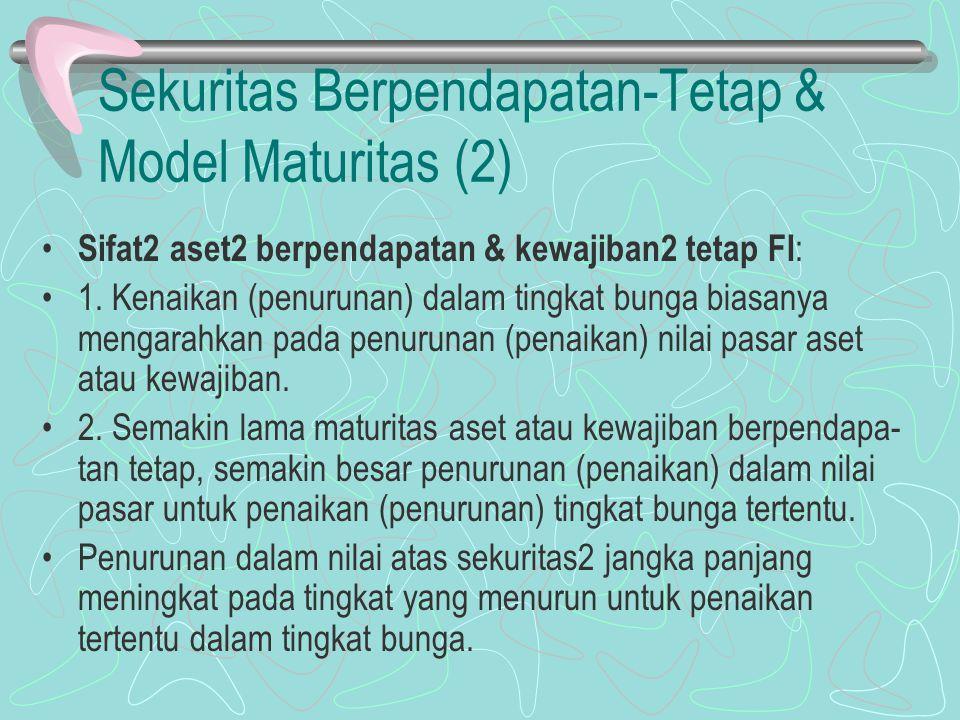 Sekuritas Berpendapatan-Tetap & Model Maturitas (2)