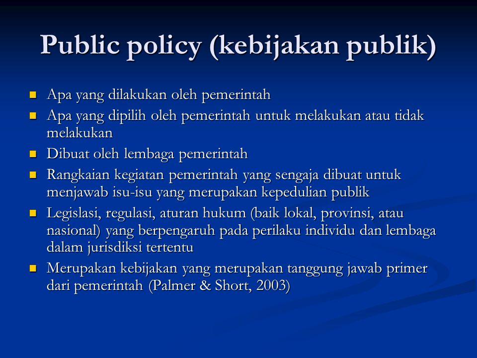 Public policy (kebijakan publik)
