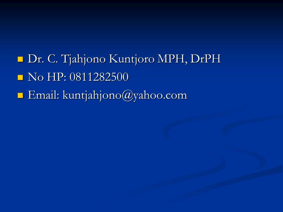 Dr. C. Tjahjono Kuntjoro MPH, DrPH
