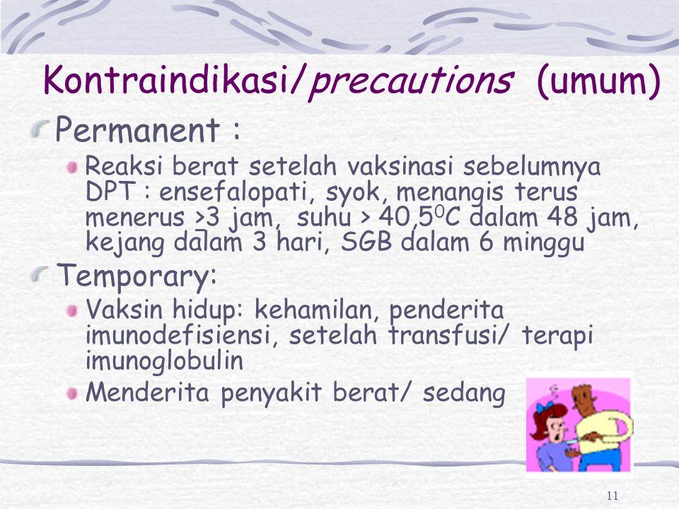 Kontraindikasi/precautions (umum)