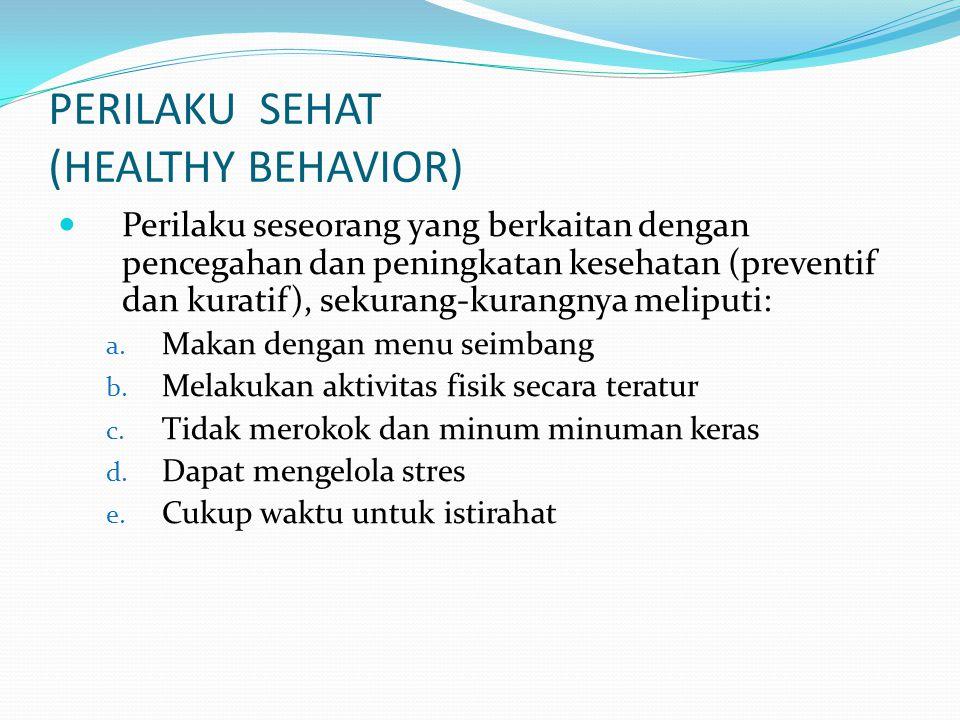 PERILAKU SEHAT (HEALTHY BEHAVIOR)