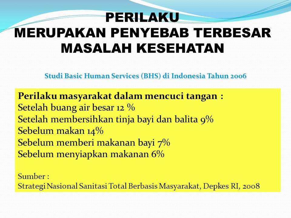 Studi Basic Human Services (BHS) di Indonesia Tahun 2006