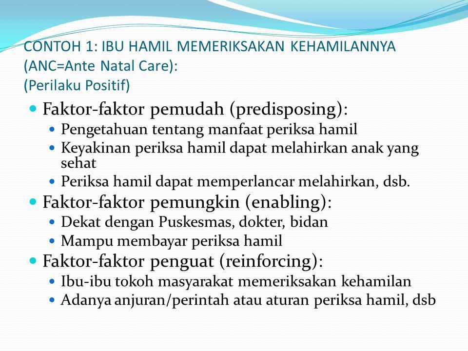 Faktor-faktor pemudah (predisposing):