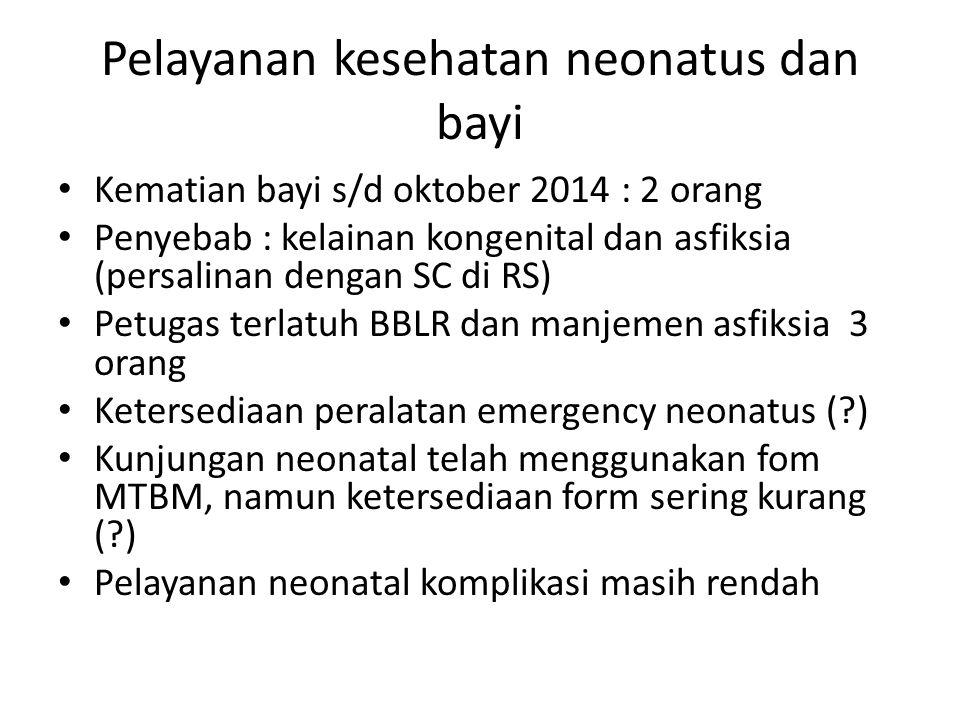 Pelayanan kesehatan neonatus dan bayi