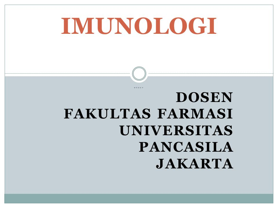 Dosen Fakultas Farmasi Universitas Pancasila Jakarta
