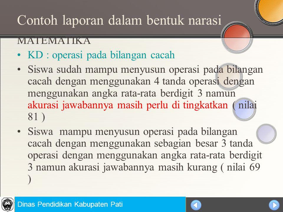 Contoh laporan dalam bentuk narasi