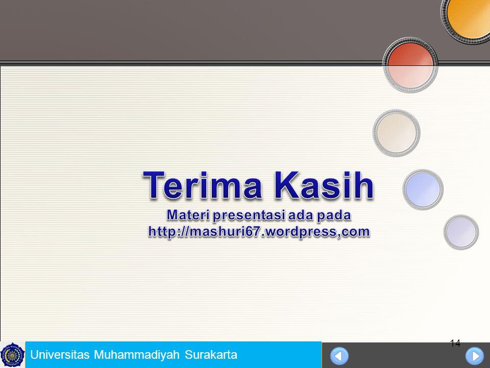 Materi presentasi ada pada http://mashuri67.wordpress,com