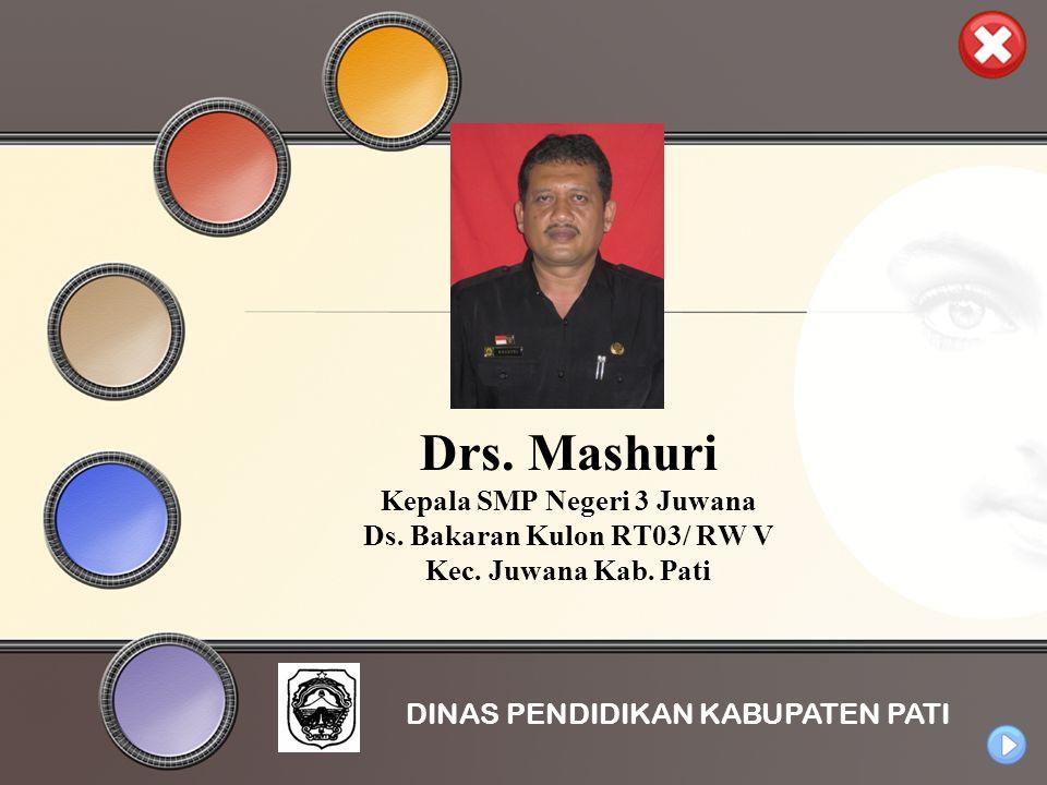 Drs. Mashuri Kepala SMP Negeri 3 Juwana Ds