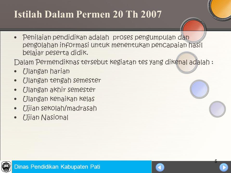 Istilah Dalam Permen 20 Th 2007