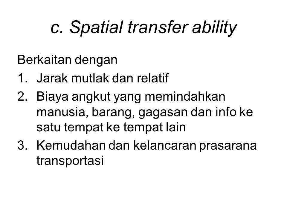 c. Spatial transfer ability
