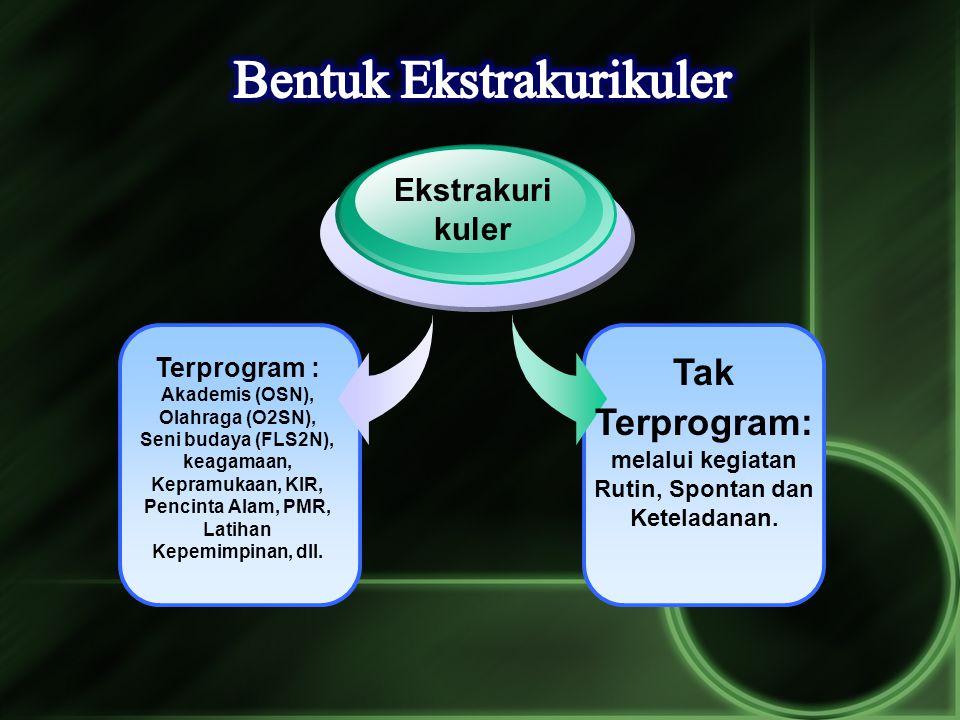 Tak Terprogram: melalui kegiatan Rutin, Spontan dan Keteladanan.