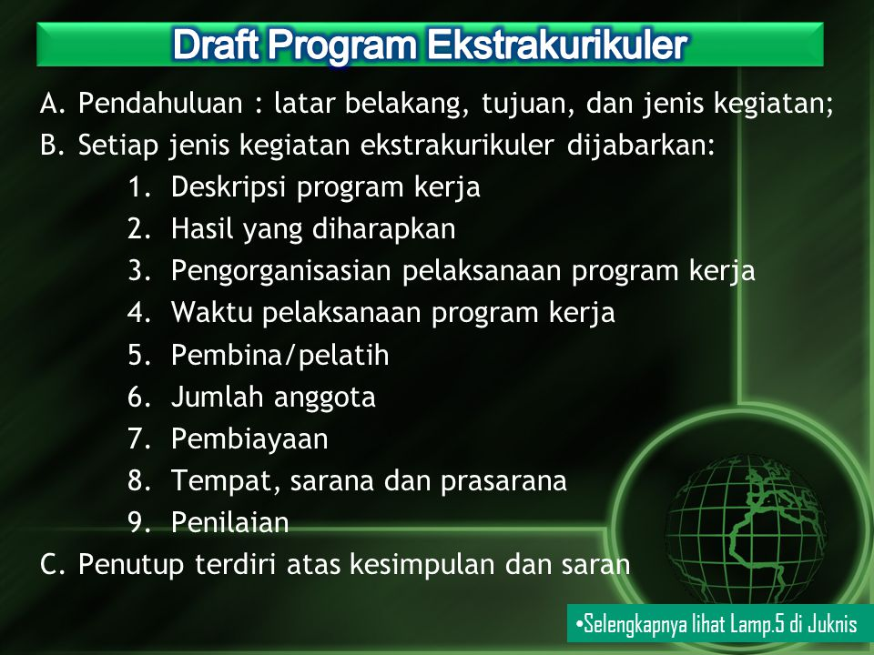 Draft Program Ekstrakurikuler