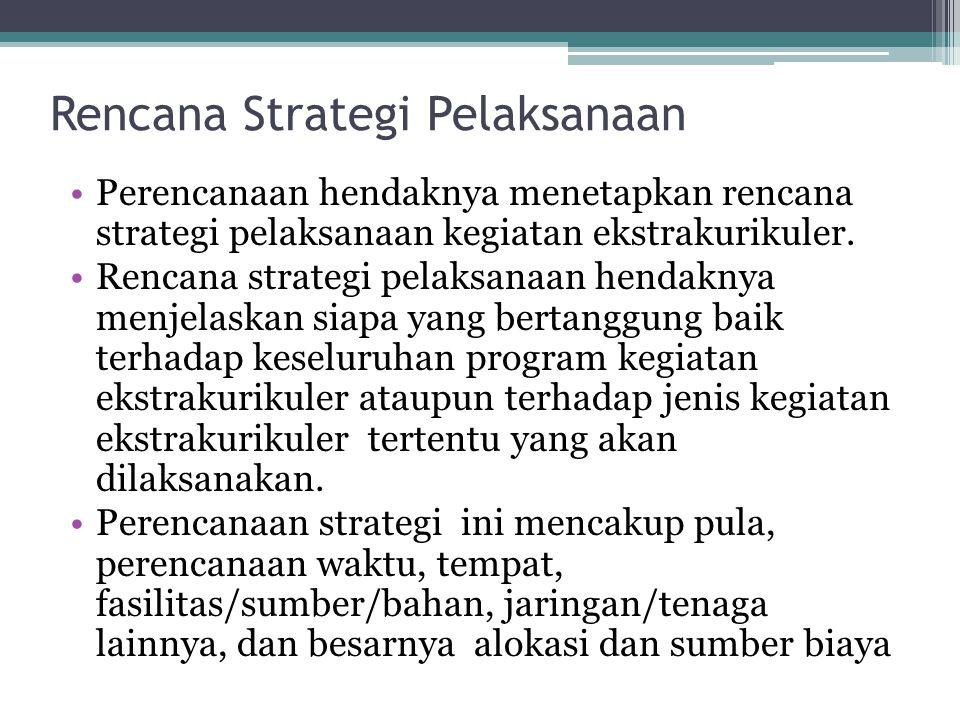 Rencana Strategi Pelaksanaan