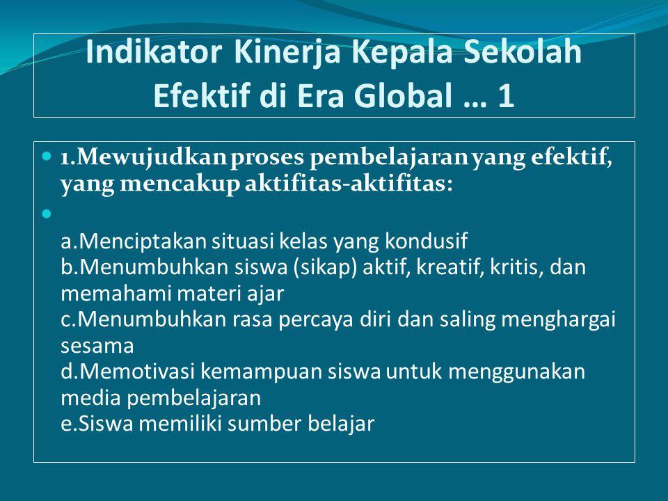 Indikator Kinerja Kepala Sekolah Efektif di Era Global … 1