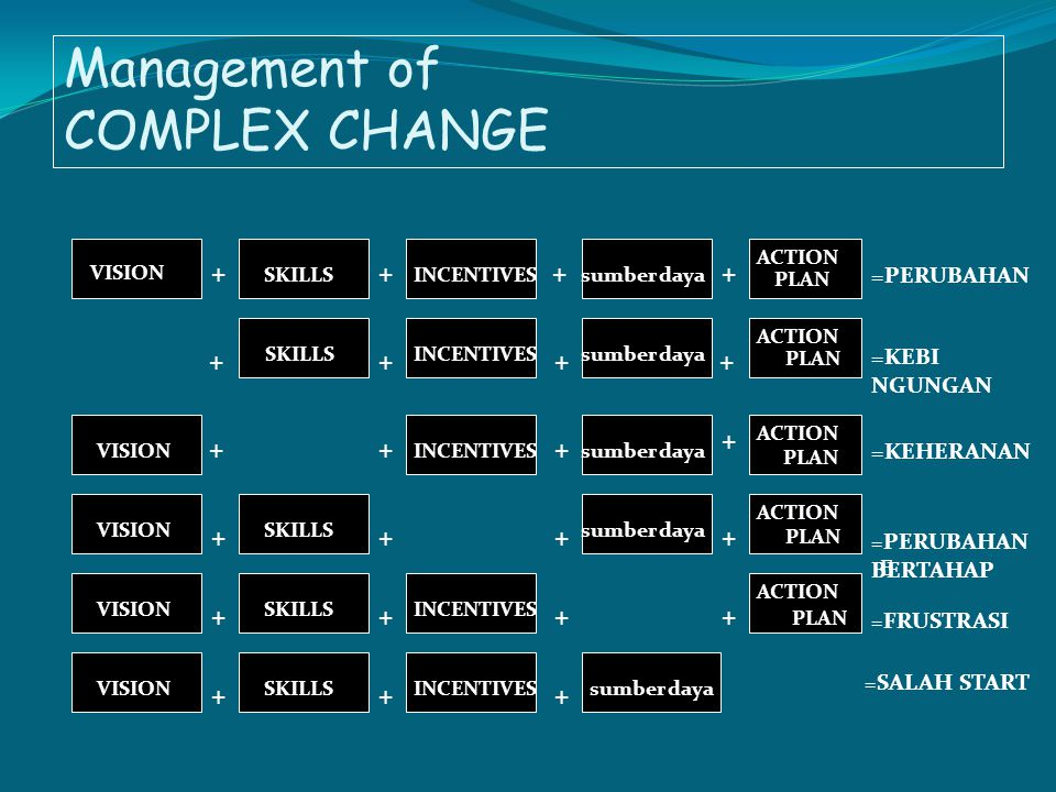 Management of COMPLEX CHANGE