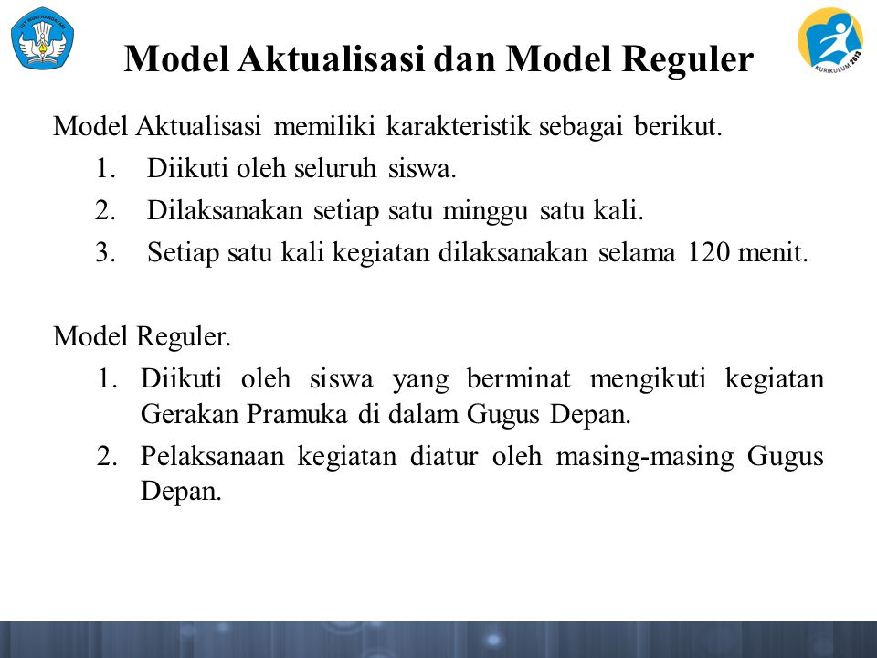 Model Aktualisasi dan Model Reguler