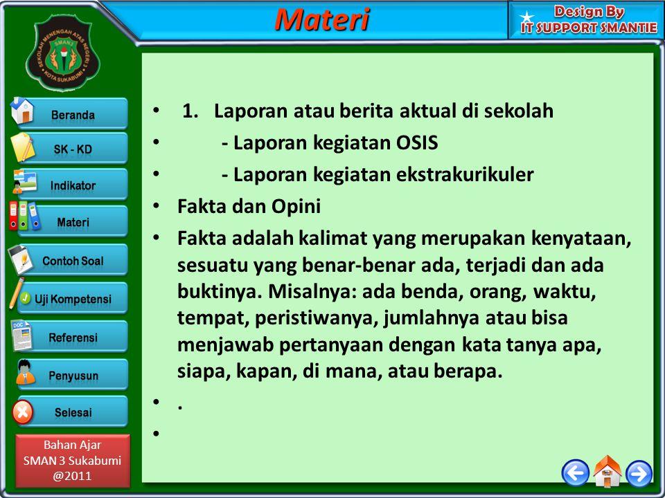 Materi 1. Laporan atau berita aktual di sekolah