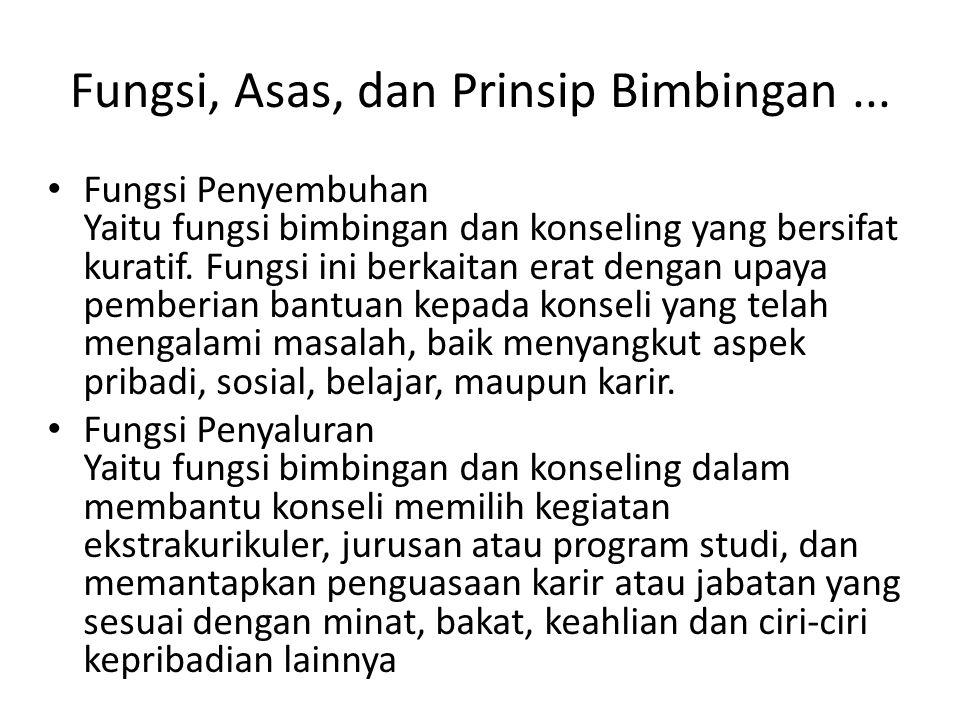 Fungsi, Asas, dan Prinsip Bimbingan ...