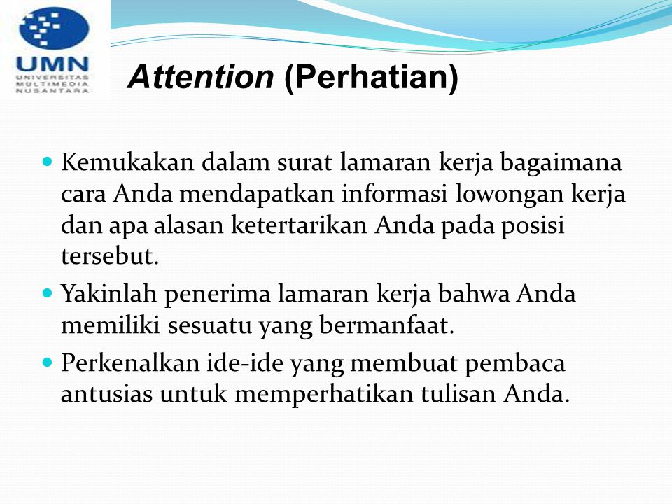 Attention (Perhatian)