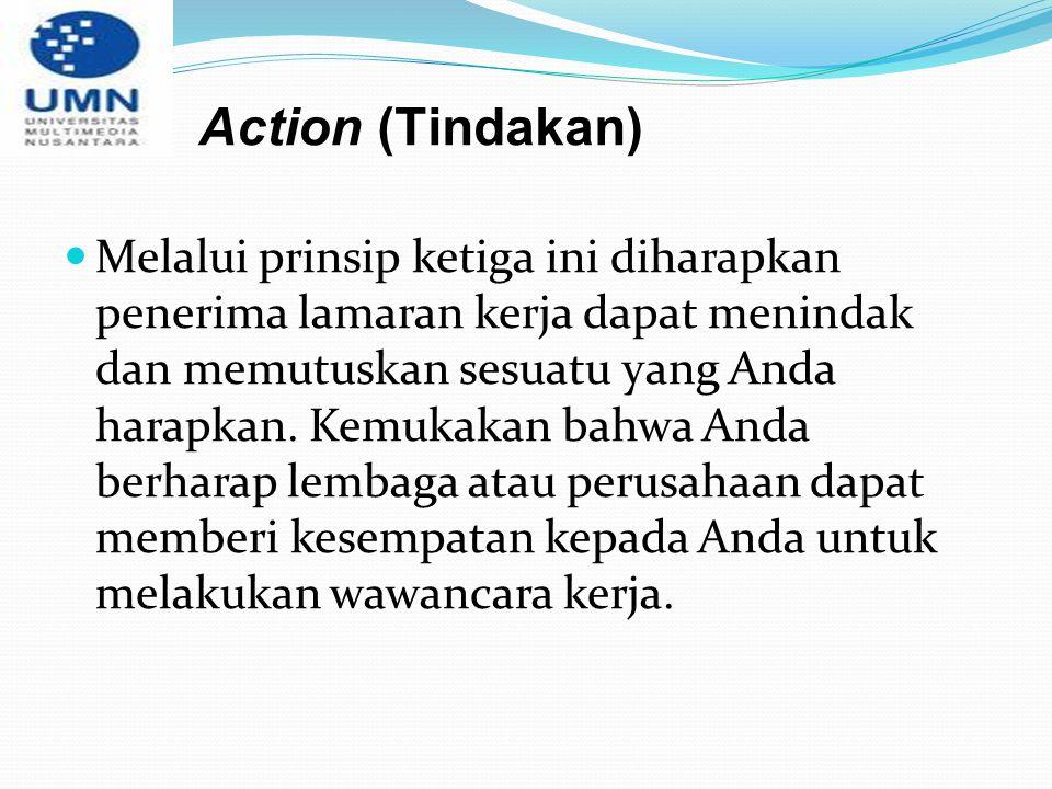 Action (Tindakan)
