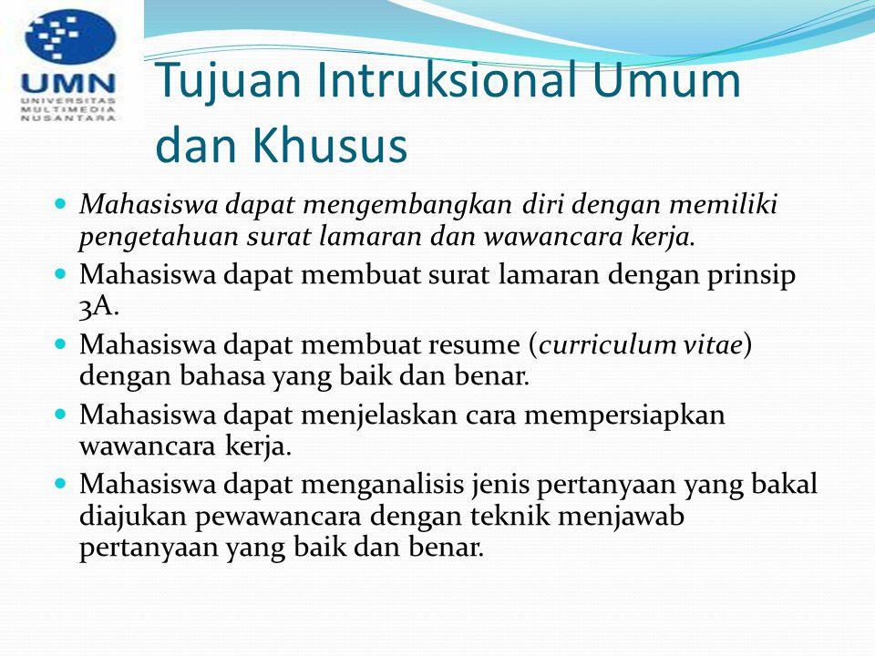 Tujuan Intruksional Umum dan Khusus
