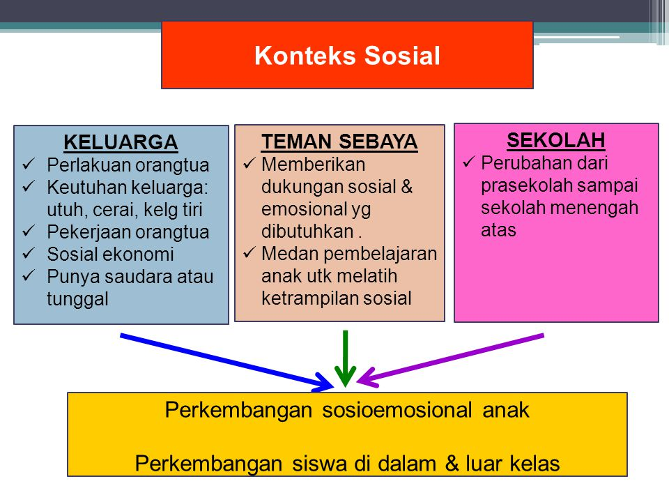 Konteks Sosial Perkembangan sosioemosional anak