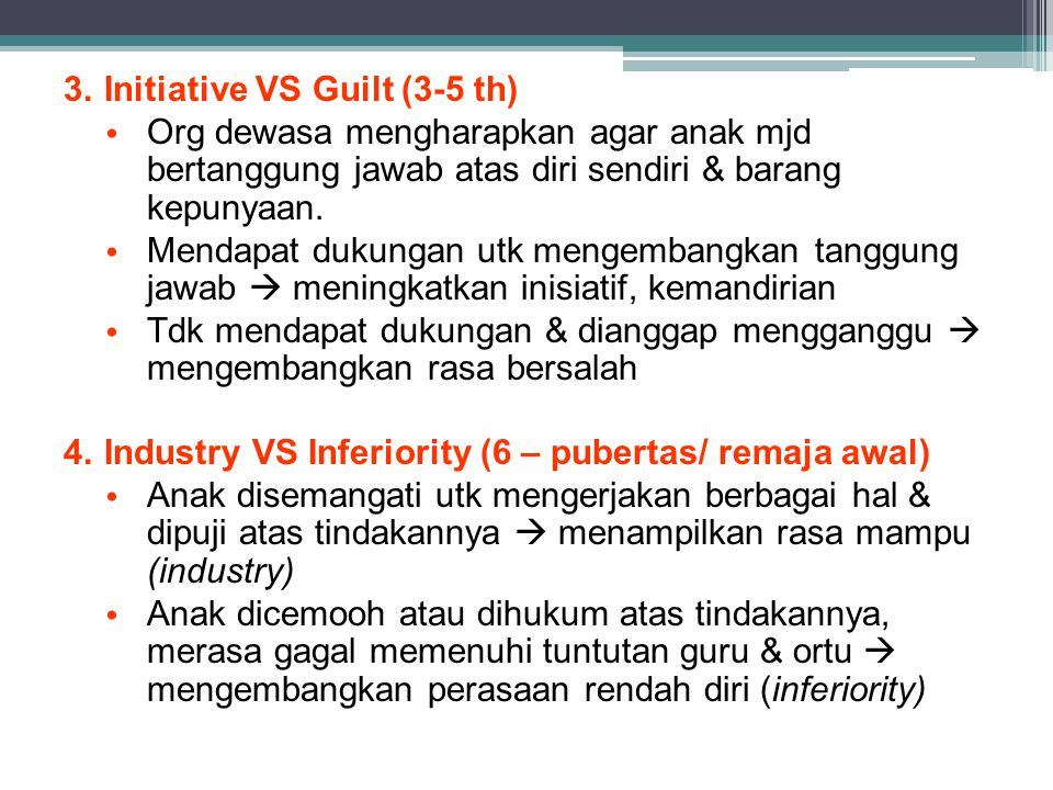 Initiative VS Guilt (3-5 th)