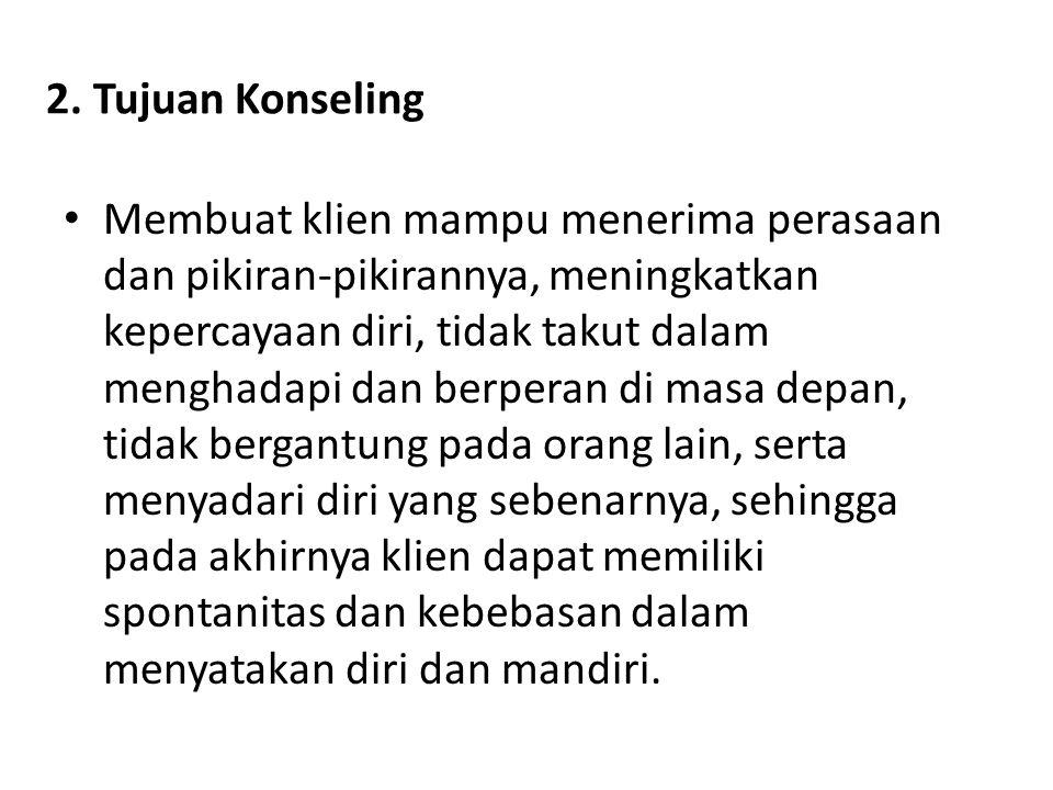2. Tujuan Konseling