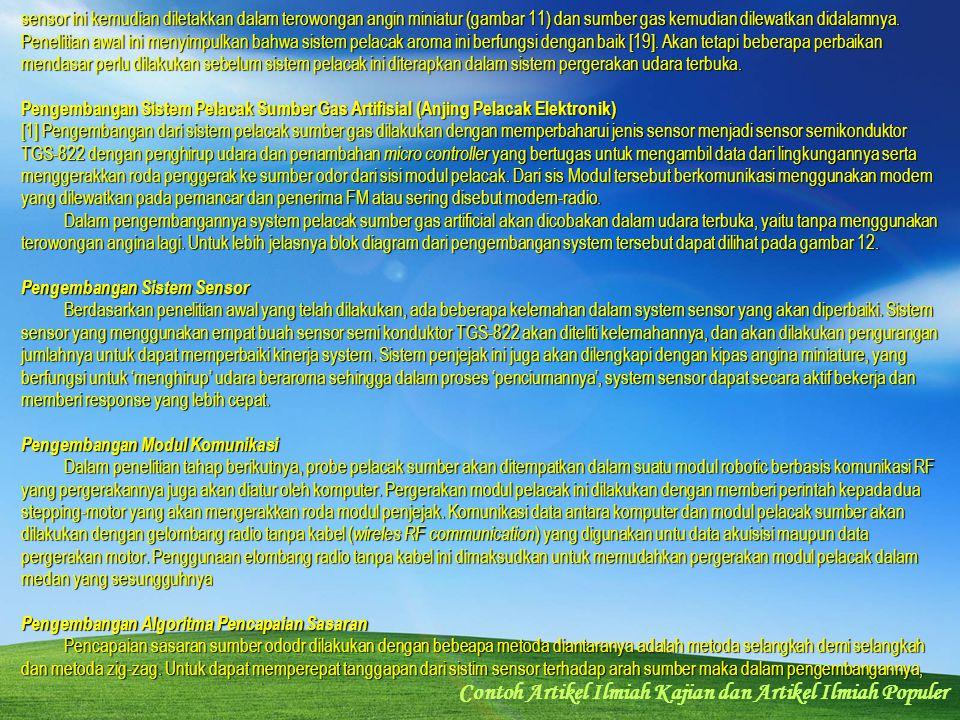 Contoh Artikel Ilmiah Kajian dan Artikel Ilmiah Populer