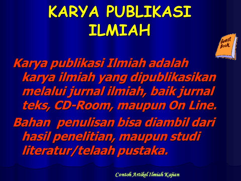 KARYA PUBLIKASI ILMIAH