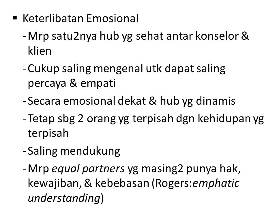Keterlibatan Emosional