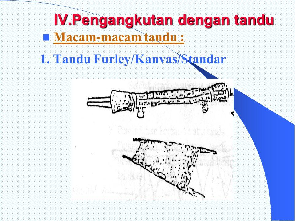IV.Pengangkutan dengan tandu