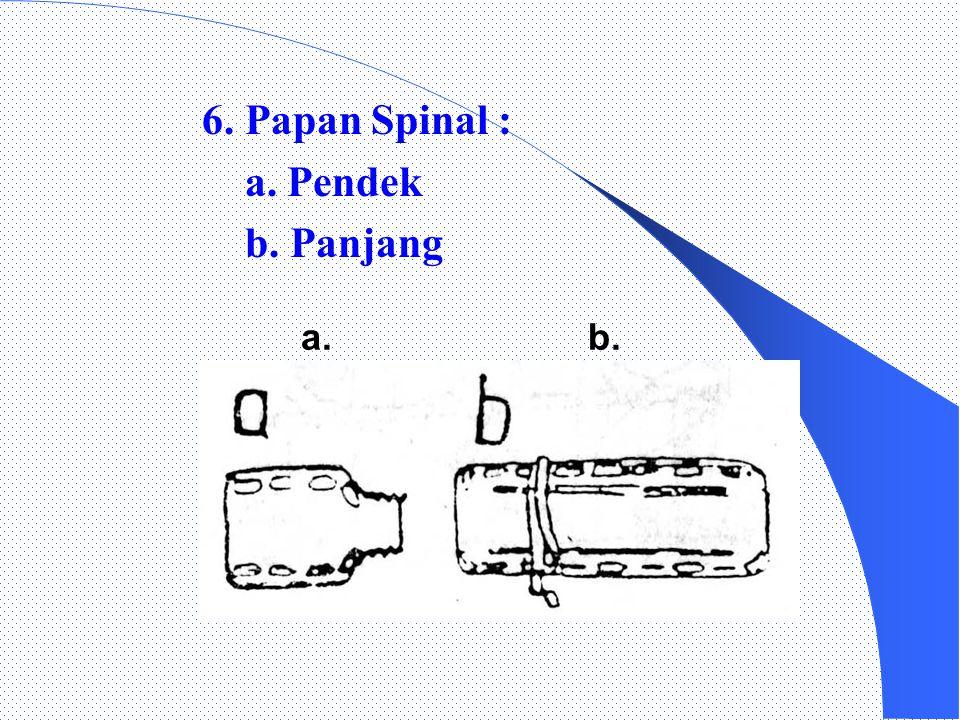 6. Papan Spinal : a. Pendek b. Panjang a. b.
