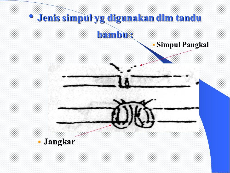 Jenis simpul yg digunakan dlm tandu bambu :