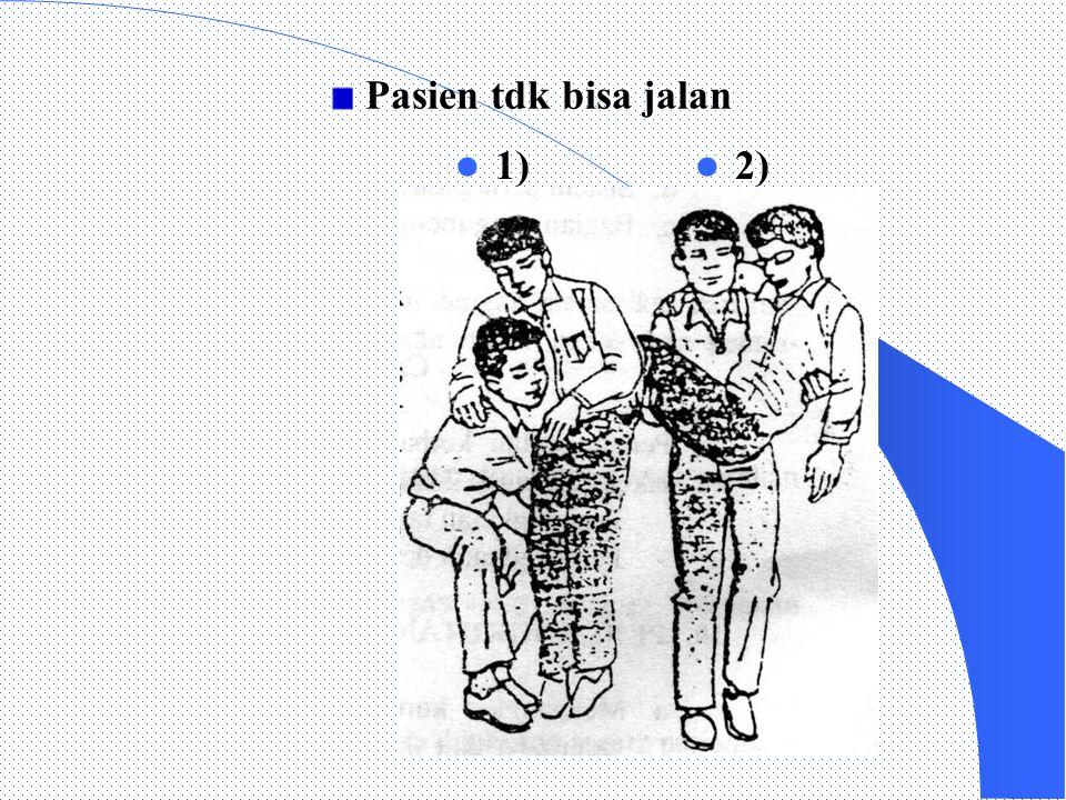 Pasien tdk bisa jalan 1) 2)